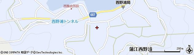 大分県佐伯市蒲江大字西野浦437周辺の地図