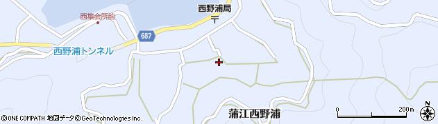 大分県佐伯市蒲江大字西野浦1227周辺の地図