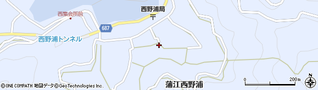 大分県佐伯市蒲江大字西野浦1228周辺の地図