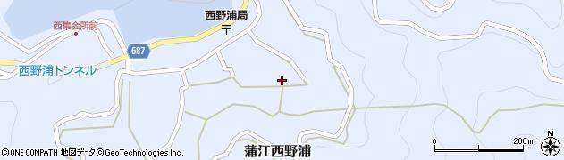 大分県佐伯市蒲江大字西野浦1290周辺の地図