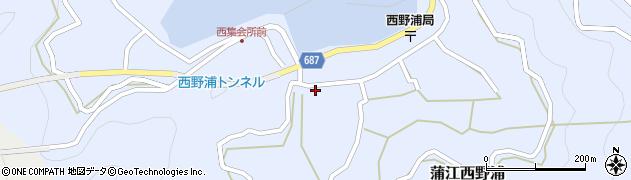 大分県佐伯市蒲江大字西野浦411周辺の地図