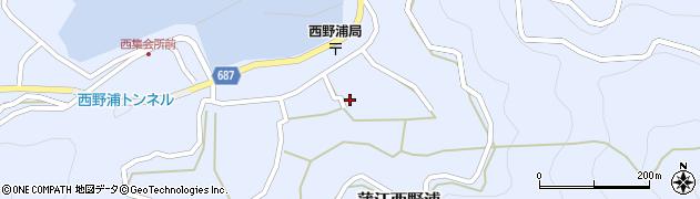 大分県佐伯市蒲江大字西野浦1239周辺の地図