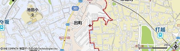熊本県熊本市西区津浦町周辺の地図