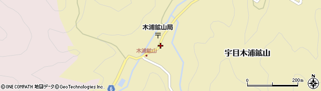 大分県佐伯市宇目大字木浦鉱山418周辺の地図
