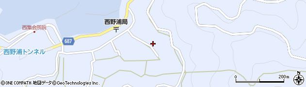 大分県佐伯市蒲江大字西野浦1279周辺の地図