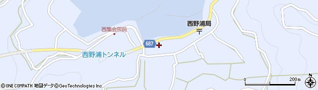 大分県佐伯市蒲江大字西野浦405周辺の地図