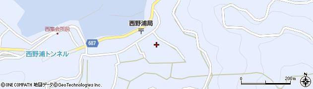 大分県佐伯市蒲江大字西野浦1236周辺の地図