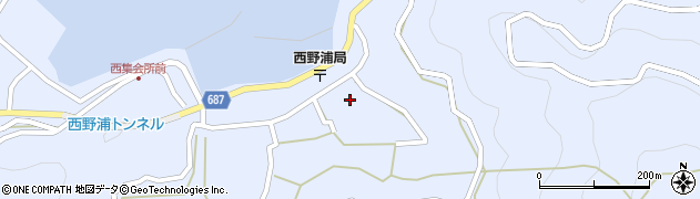 大分県佐伯市蒲江大字西野浦1247周辺の地図