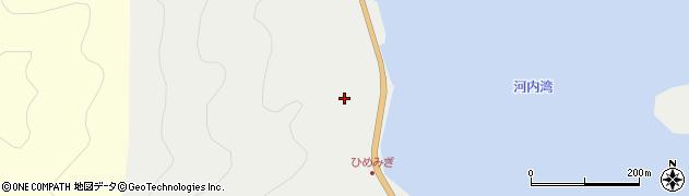 大分県佐伯市蒲江大字竹野浦河内灘周辺の地図