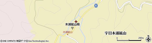 大分県佐伯市宇目大字木浦鉱山393周辺の地図