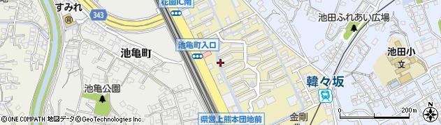 熊本田原坂線周辺の地図