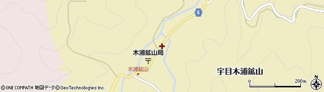 大分県佐伯市宇目大字木浦鉱山390周辺の地図