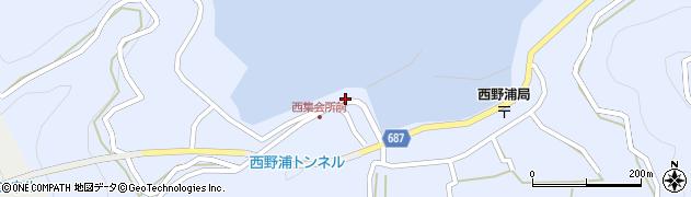 大分県佐伯市蒲江大字西野浦356周辺の地図