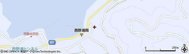 大分県佐伯市蒲江大字西野浦1631周辺の地図