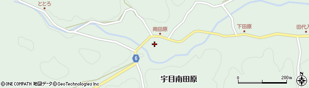 大分県佐伯市宇目大字南田原839周辺の地図