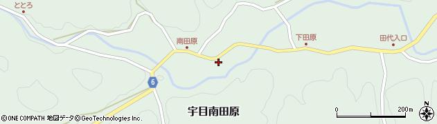 大分県佐伯市宇目大字南田原580周辺の地図