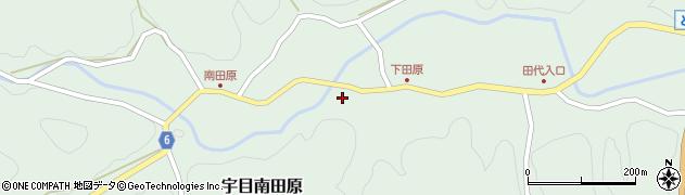 大分県佐伯市宇目大字南田原周辺の地図