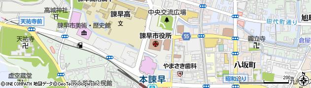 長崎県諫早市周辺の地図