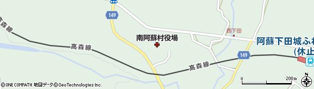 熊本県南阿蘇村(阿蘇郡)周辺の地図