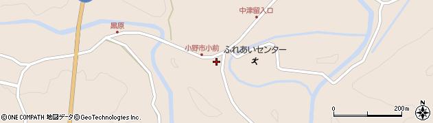 大分県佐伯市宇目大字小野市3745周辺の地図