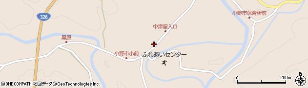 大分県佐伯市宇目大字小野市3737周辺の地図