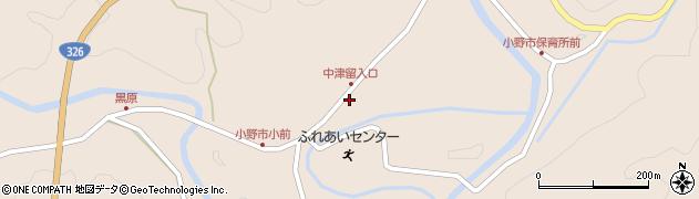 大分県佐伯市宇目大字小野市3402周辺の地図