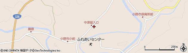 大分県佐伯市宇目大字小野市3403周辺の地図