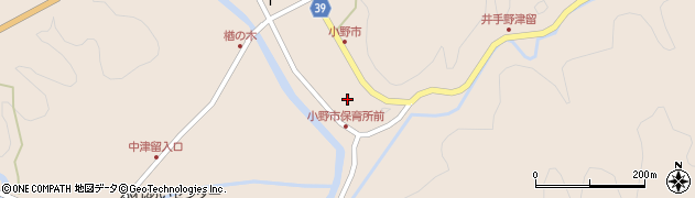 大分県佐伯市宇目大字小野市2939周辺の地図