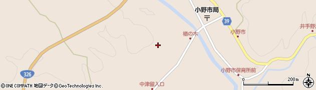 大分県佐伯市宇目大字小野市3525周辺の地図