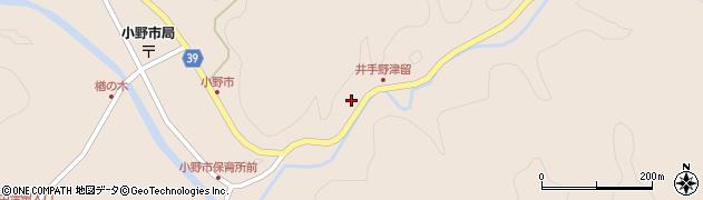 大分県佐伯市宇目大字小野市3038周辺の地図