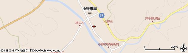 大分県佐伯市宇目大字小野市2908周辺の地図