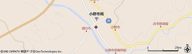 大分県佐伯市宇目大字小野市周辺の地図