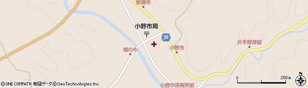 大分県佐伯市宇目大字小野市2904周辺の地図