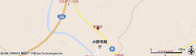 大分県佐伯市宇目大字小野市2884周辺の地図