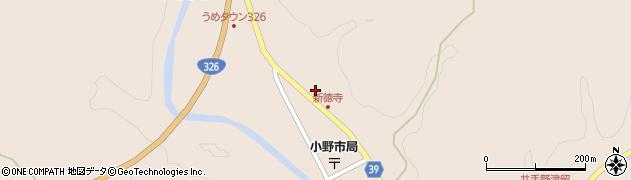 大分県佐伯市宇目大字小野市2848周辺の地図