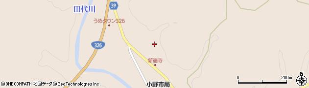 大分県佐伯市宇目大字小野市2843周辺の地図