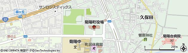 熊本県菊陽町(菊池郡)周辺の地図