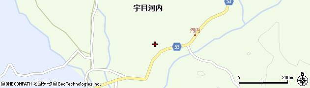大分県佐伯市宇目大字河内273周辺の地図