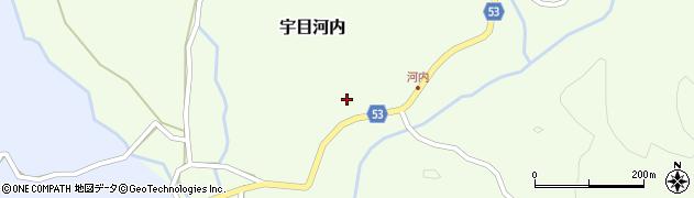 大分県佐伯市宇目大字河内275周辺の地図
