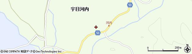 大分県佐伯市宇目大字河内284周辺の地図