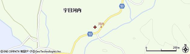 大分県佐伯市宇目大字河内289周辺の地図