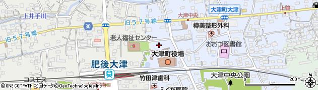 熊本県菊池郡大津町周辺の地図