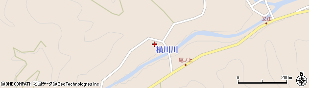 大分県佐伯市直川大字横川1212周辺の地図