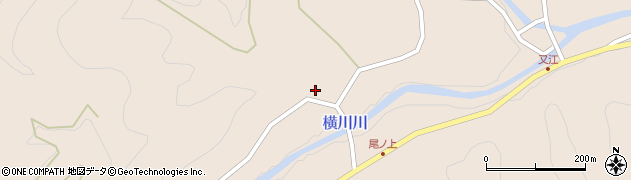 大分県佐伯市直川大字横川2320周辺の地図