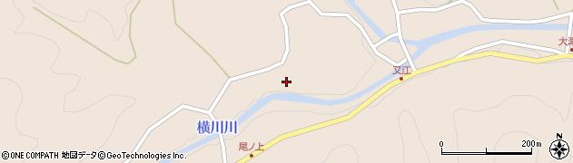 大分県佐伯市直川大字横川尾ノ上周辺の地図