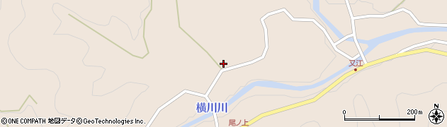 大分県佐伯市直川大字横川2328周辺の地図