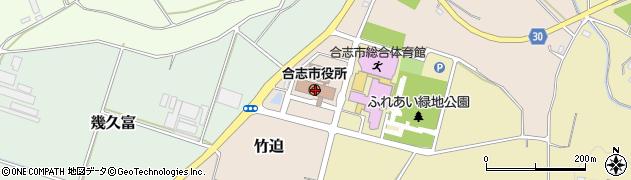 熊本県合志市周辺の地図