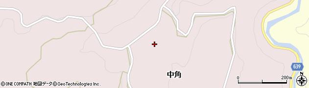 大分県竹田市中角中角周辺の地図