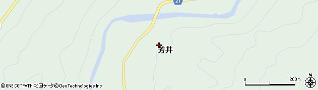 高知県三原村(幡多郡)芳井周辺の地図