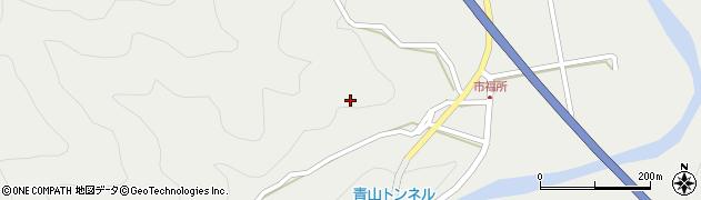 大分県佐伯市青山市福所区周辺の地図